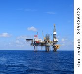 offshore jack up drilling rig... | Shutterstock . vector #349436423
