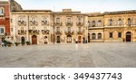 cathedral square of syracuse.... | Shutterstock . vector #349437743