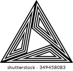 triangle striped design .... | Shutterstock .eps vector #349458083