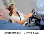 trying the drive simulator | Shutterstock . vector #349465133