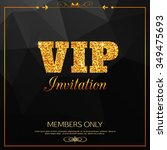 gold vip background | Shutterstock .eps vector #349475693