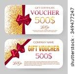 gift voucher template. vector... | Shutterstock .eps vector #349477247