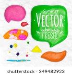 set of vector modeling clay... | Shutterstock .eps vector #349482923