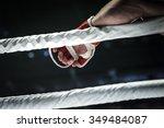 closeup hand of fighter mma in...   Shutterstock . vector #349484087