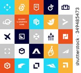 vector flat logo template for... | Shutterstock .eps vector #349485473