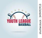 baseball badge  sport logo ... | Shutterstock .eps vector #349492913
