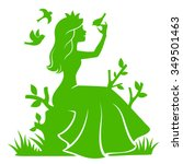silhouette of a princess... | Shutterstock .eps vector #349501463