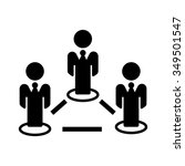 people network icon | Shutterstock .eps vector #349501547