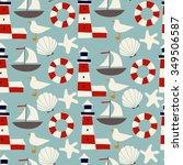 kids vector seamless pattern... | Shutterstock .eps vector #349506587