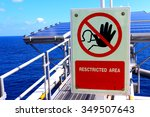 restricted area at offshore... | Shutterstock . vector #349507643