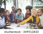 people meeting social... | Shutterstock . vector #349512833