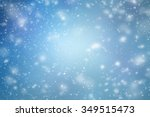 winter background with flying... | Shutterstock . vector #349515473