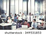 business people meeting... | Shutterstock . vector #349531853