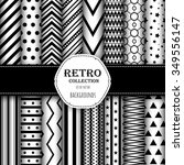 collection of seamless patterns ... | Shutterstock .eps vector #349556147
