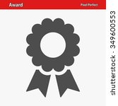 award icon. professional  pixel ... | Shutterstock .eps vector #349600553