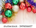 decoration of christmas... | Shutterstock . vector #349606607