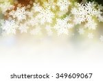 christmas snowflakes on... | Shutterstock . vector #349609067
