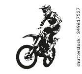 motocross rider. motor vector... | Shutterstock .eps vector #349617527