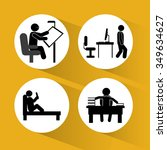 activity concept with pictogram ...   Shutterstock .eps vector #349634627