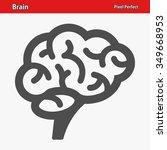 brain icon. professional  pixel ...   Shutterstock .eps vector #349668953