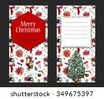 christmas card  merry christmas ... | Shutterstock . vector #349675397