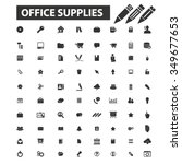 office  supplies  freelance... | Shutterstock .eps vector #349677653