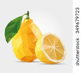 polygonal lemon in vector | Shutterstock .eps vector #349679723