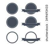 blank round stamp logo  ... | Shutterstock .eps vector #349693433