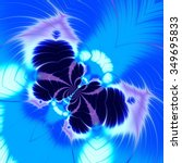 Abstract Blue Butterfly Fracta...