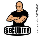 security guard  man on security ... | Shutterstock .eps vector #349724243