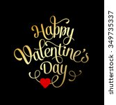 valentines card with lettering. ... | Shutterstock .eps vector #349735337