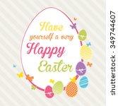 lovely easter design | Shutterstock .eps vector #349744607