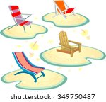 beach chair set variation of...   Shutterstock .eps vector #349750487