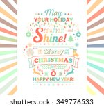 greeting card. christmas and... | Shutterstock .eps vector #349776533