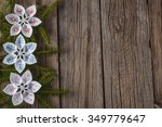 felt decoration on rustic... | Shutterstock . vector #349779647