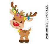 christmas reindeer vector... | Shutterstock .eps vector #349785323