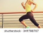 young fitness woman runner... | Shutterstock . vector #349788707