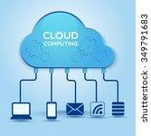 cloud computing technology... | Shutterstock .eps vector #349791683