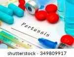pertussis   diagnosis written... | Shutterstock . vector #349809917