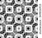pixel art lace   black and... | Shutterstock .eps vector #349816913