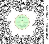 vintage delicate invitation... | Shutterstock . vector #349816997