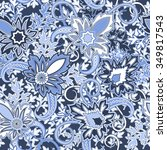 seamless paisley background.... | Shutterstock .eps vector #349817543