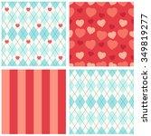 cute set of seamless primitive... | Shutterstock . vector #349819277