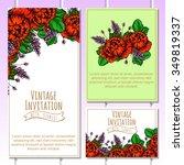 romantic invitation. wedding ... | Shutterstock . vector #349819337