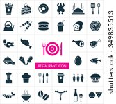 vector food icon set. | Shutterstock .eps vector #349835513