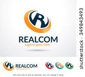 realcom letter r logo template... | Shutterstock .eps vector #349843493