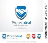 protect deal logo template... | Shutterstock .eps vector #349843547