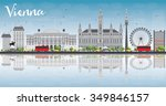 vienna skyline with gray... | Shutterstock .eps vector #349846157