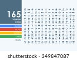 tourism vector set of modern... | Shutterstock .eps vector #349847087
