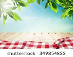 sunlight on summer sky with... | Shutterstock . vector #349854833